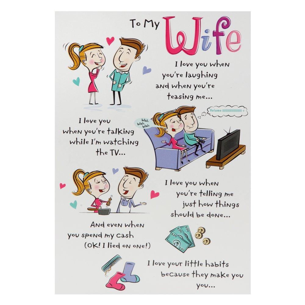 Hallmark Birthday Card For Wife Funny Poem