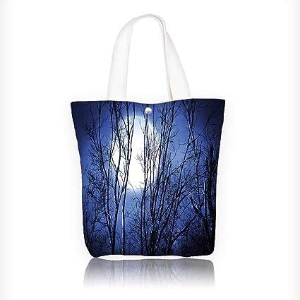 b1a941099 Bolsa de lona con cierre impresa abstracto floral Swirl reutilizable de lona  con cierre bolsa Bolsa ...