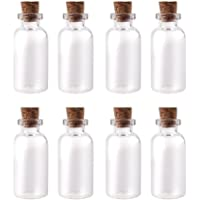 Yesker IPV023 Package of 24 Small Mini Glass Jars with Cork Stoppers - Size: 1-1/2″ Tall X 3/4 Inches Diameter