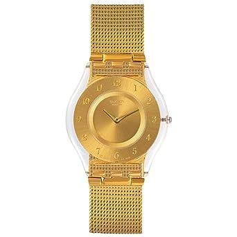 Swatch Reloj Digital para Mujer de Cuarzo con Correa en Acero Inoxidable SFK355M: Amazon.es: Relojes