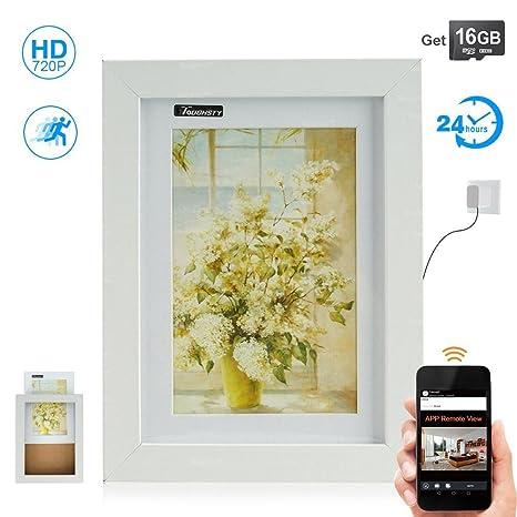 Toughsty 16GB 720P HD Camara Oculta Vigilancia WiFi Inalámbrica para Casa Acceso Remoto de Celular Camaras