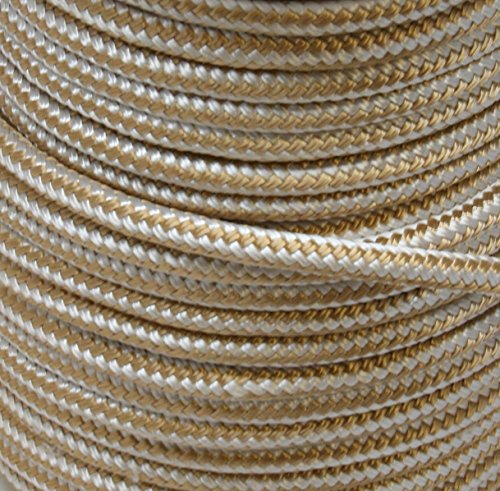 Sea Dog 302110150G/W-1 Double Braided Nylon Anchor Line with Thimble, 3/8″