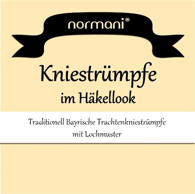 normani 3 Paar Dirndlkniestr/ümpfe//Trachtenkniestr/ümpfe H/äkellook