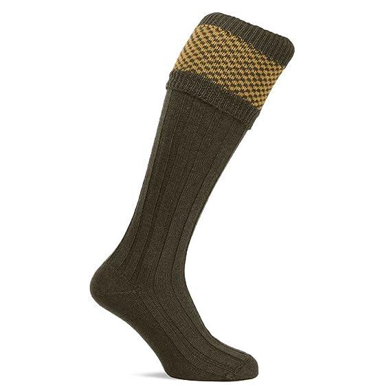 Jack Pyke Full Length Harlequin Shooting Socks with Garters Hunting Game Breeks