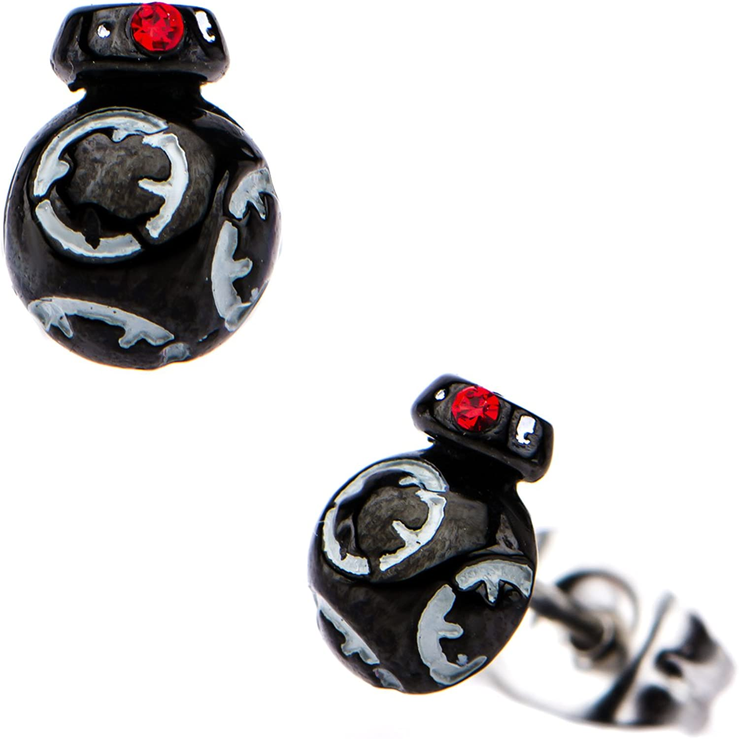 C-3PO and R2-D2 316L Stainless Steel /& Base Metal Droid Stud Earrings Set Star Wars BB-8