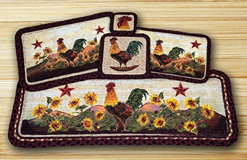 Morning Rooster Wicker Weave Table Top Set - 12 Piece