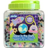 Perler Beads Glow in the Dark Beads for Kids Crafts, 11000 pcs