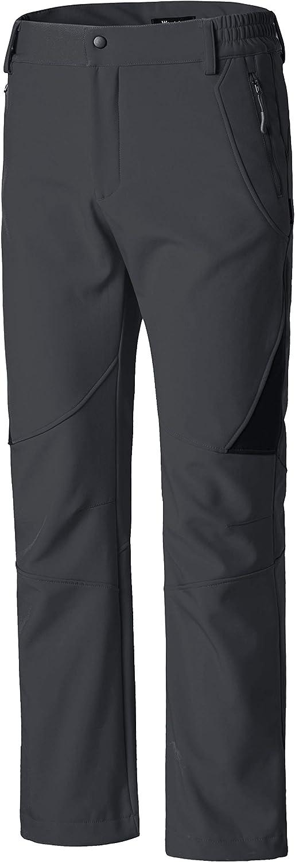Wantdo Womens Insulated Ski Pants Softshell Fleece Lined Windproof Overalls