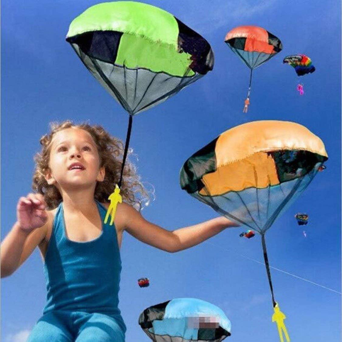 FancysweetyFR Enfants Main Lancer Jouet Parachute pour Enfants EFor DUCATIonal Parachute avec Figure Soldier en Plein Air Amusant Sport Jeu de Jeu