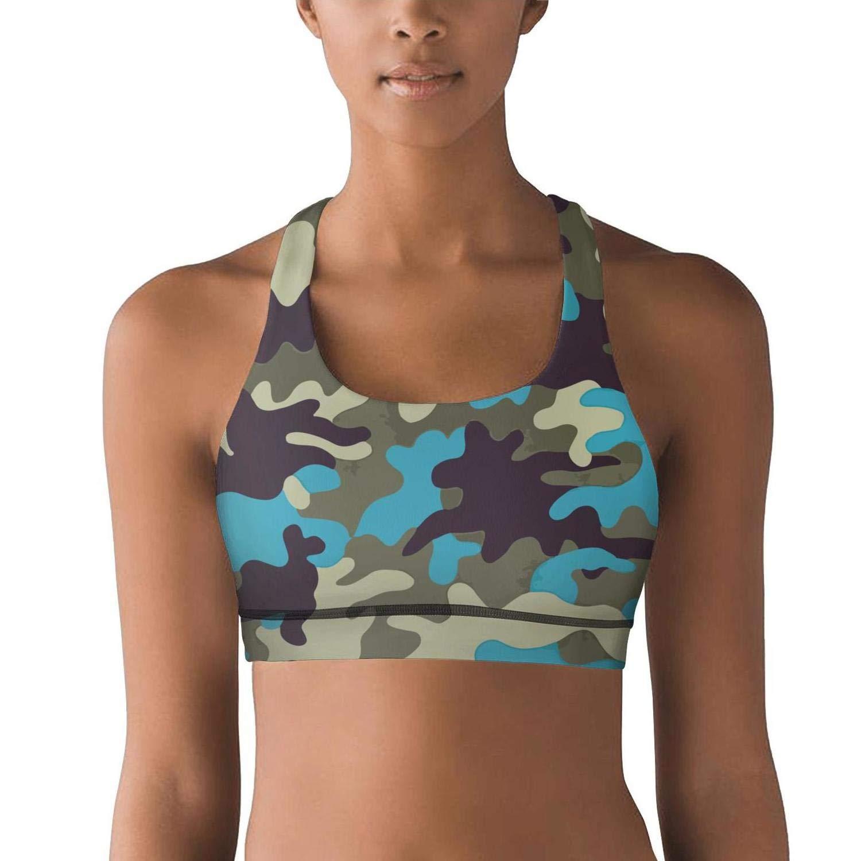 QYLK Colorful Camouflage Women Yoga Sports Bra