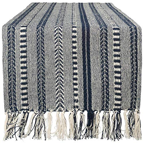 DII Braided Cotton Table Runner Perfect for Summer, Holiday Parties and Everyday Use, 15x72