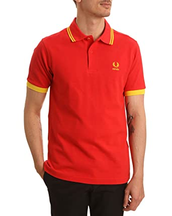 Fred Perry Espana Country Polo Shirt Rojo XS: Amazon.es: Ropa y ...