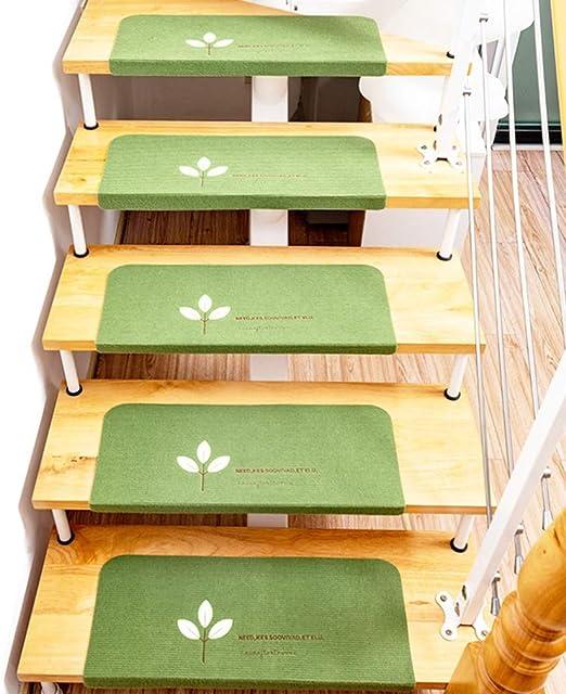 Huella de peldaño de alfombras Mats, duradero antideslizante for escaleras de ratón, Protección luminoso autoadhesivos que cubren la manta de huella de peldaño interior del piso / de seguridad for niñ: Amazon.es: