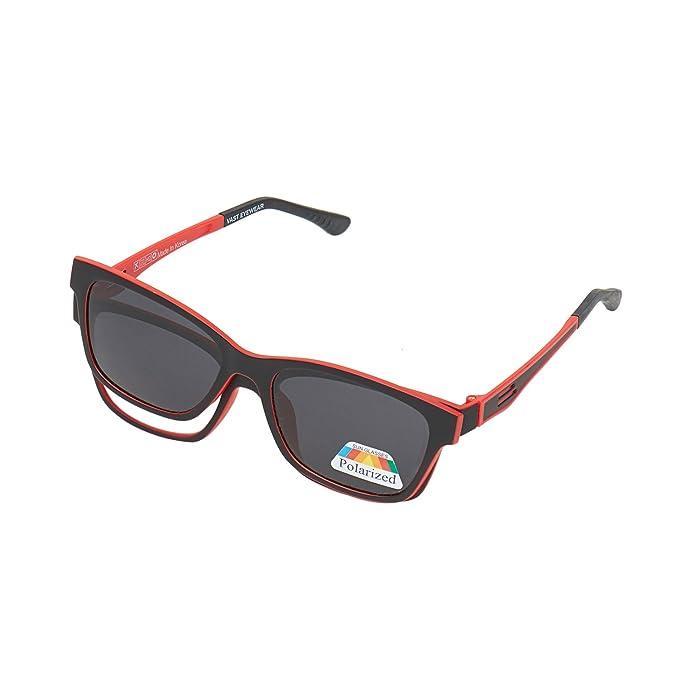 094358195b772 Vast Polarized Unisex Sunglasses(CLIPON P004 BLACK RED