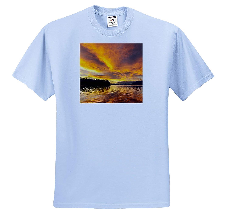 3dRose Danita Delimont - Adult T-Shirt XL Alaska Scenics USA ts/_314445 Sunset Landscape Tongass National Forest