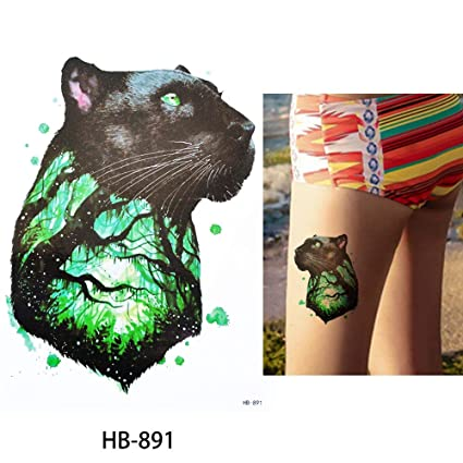 9e4d0c7fb Image Unavailable. Image not available for. Color: s1 1x DIY Body Art  Temporary Tattoo Colorful Animals ...