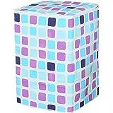 VORCOOL - Cubierta Impermeable para Lavadora con patrón de Rejillas a Prueba de Polvo (Rejillas Azules y moradas)