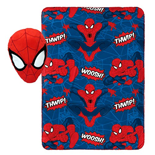 Jay Franco Marvel Spiderman Whoosh Plush Pillow and 40