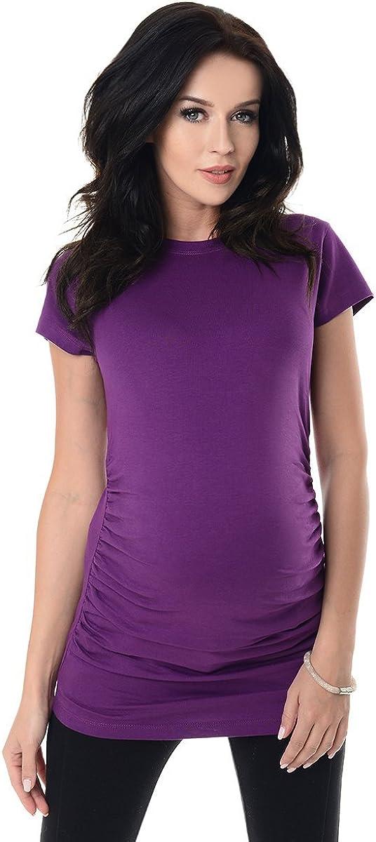 Purpless Maternity Plain Cotton Top Pregnancy T-shirt Tee for Pregnant Women 5025