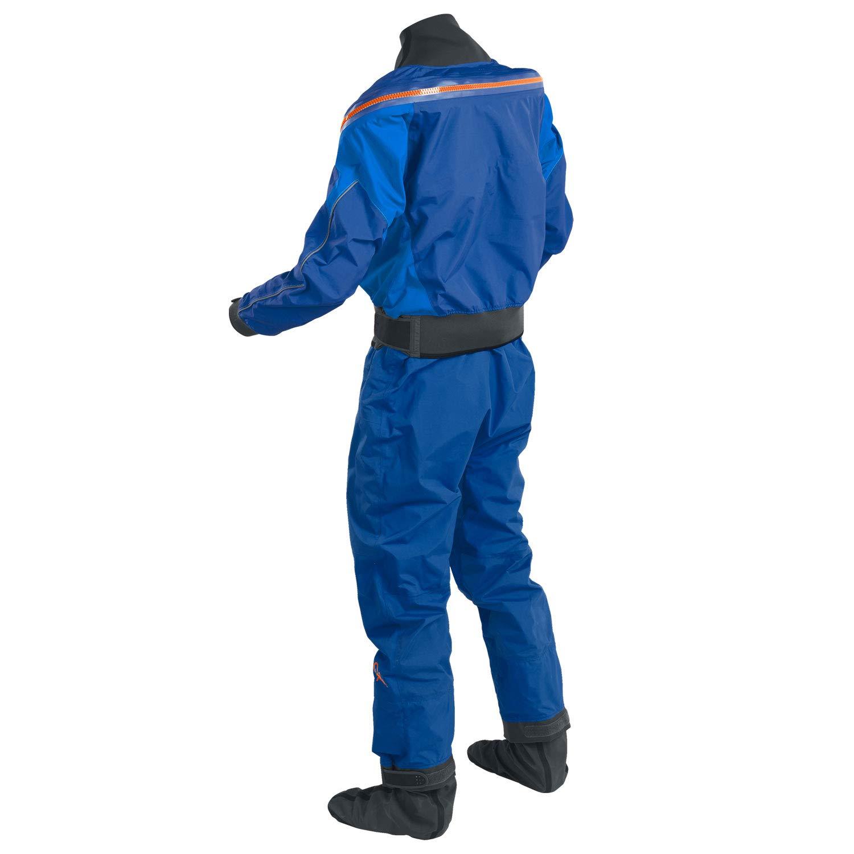 Palm 2019 Mens Atom Back Zip Kayak Drysuit + CON Zip Colbalt/Ocean 12380 Drysuit Size - S by Palm (Image #2)