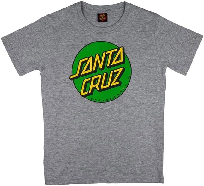 Santa Cruz - Camisa deportiva - Manga corta - para niño gris Dark Heather: Amazon.es: Ropa y accesorios