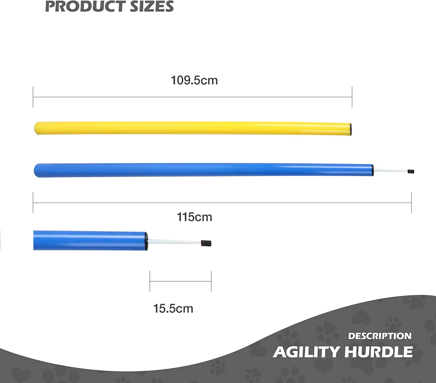 Pet Outdoor Games Agility Exercise Training Equipment Jump Hurdle bar Obedience Show Training for Dogs