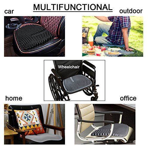 GRULLIN Silicone Car Seat Cushion Gel Massage Office Chair Pad Waterproof Non-Slip Comfort Auto Seat Pad by GRULLIN (Image #6)