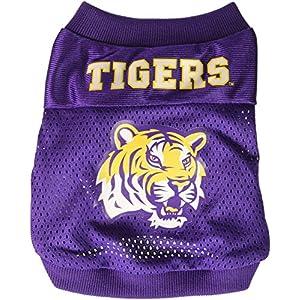 Sporty K9 Collegiate LSU Tigers Football Dog Jersey, XX-Small