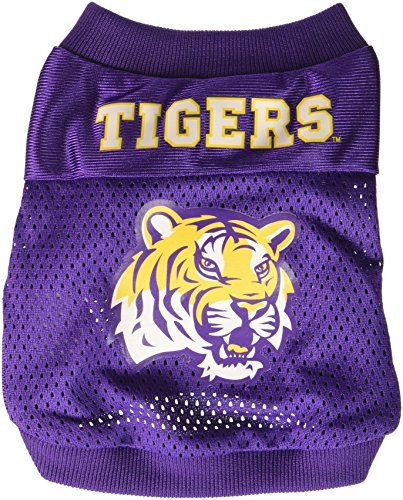 Sporty K9 Collegiate LSU Tigers Football Dog Jersey, XX-Small - Officially Licensed Dog Baseball Jersey