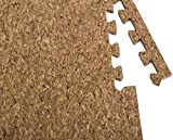Interlocking Foam Mats – Interlocking Cork Flooring – Puzzle Floor Mat - Cork Interlocking Tiles , Anti-Fatigue , Premium Foam Mat with Borders
