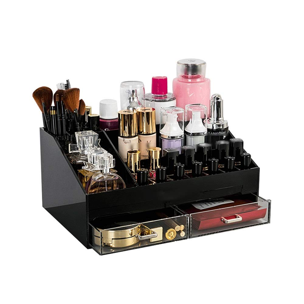 BLWX - Storage Box Drawer Dressing Table Conjoined Cosmetics Finishing Rack Dormitory Desktop Acrylic Cosmetic Storage Box