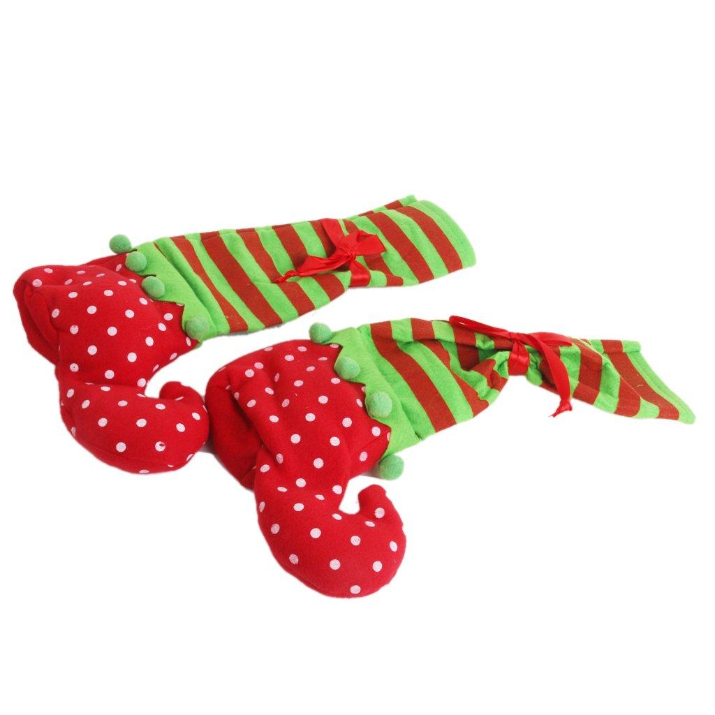 Generic 1 Pair Christmas Table Leg Covers Elf Elves Feet Shoes Legs Party Decorations SG/_B01561OSUA/_US