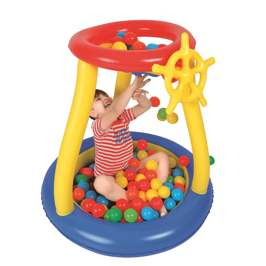 25 B/älle Jilong Pit Ball Pool /Ø93x96cm B/ällebad mit Spielb/älle Planschbecken Kinderpool Becken inkl