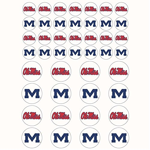 The Fanatic Group Mississippi Ole Miss Rebels Small Sticker Sheet - 2 Sheets