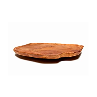 Driini Premium Handmade Root Wood Lazy Susan Turntable Organizer - Rustic Wooden Serving Platter Cheese Board (12 )