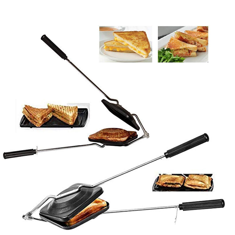 IndiaBigShop Non - Stick Sandwich Maker Grill Toaster For Kids Sandwich Double Sided Pan Sandwich Maker Dishwasher Safe
