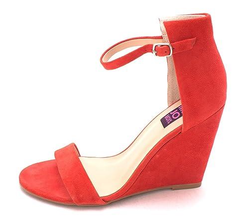 Mojo Moxy Womens Sorbet Leather Open Toe Casual Ankle Orange Suede Size 85