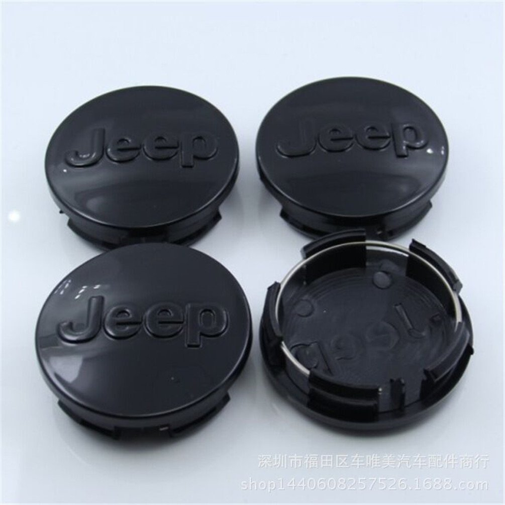 Automelody 4pcs 2 1/2 Inches A Set Of Wheel Center Caps Hubcap For Jeep Compass Gr.Cherokee Patriot Wrangler (Type2)