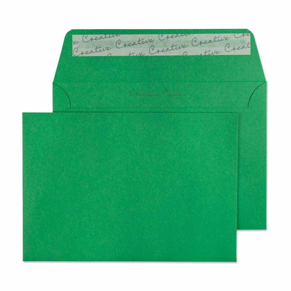 Design Range Vibrant 106 - Buste C6 con chiusura adesiva, 120 g/mq, confezione da 500, colore: Rosso Blake Envelopes