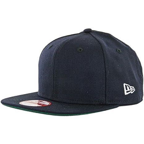 699a26eee5a Amazon.com  New Era 9Fifty Plain Blank Snapback Hat Original Uniform Cap  Black Navy Red  Sports   Outdoors