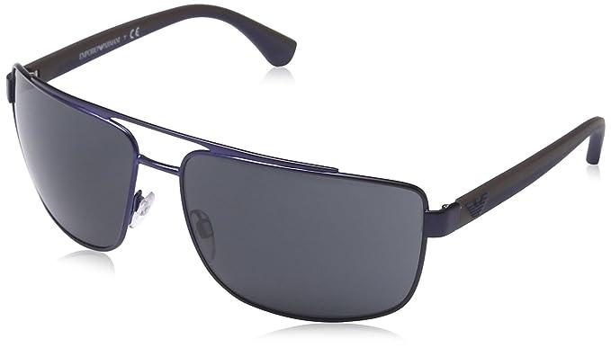 Emporio Armani EA2018, Gafas de Sol para Hombre, Azul (Matte Blue 301887)