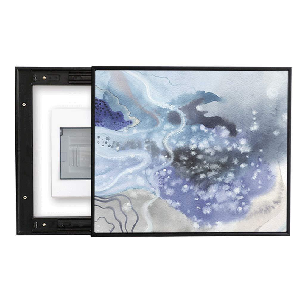 LIUDONGXIN Meter Box Modern Minimalist Abstract Push-Pull weak Electric Box Decoration Main Switch Power Box Electric Box Box Painting (Color : Black, Size : (5060cm 4045cm)) by LIUDONGXIN