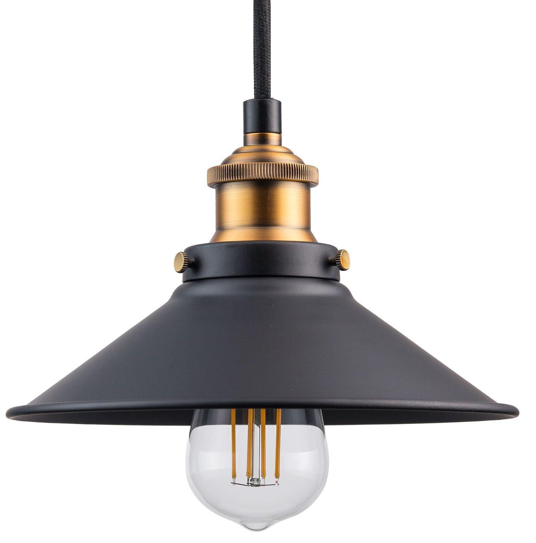 Andante Industrial Kitchen Pendant Light - Antique Brass Hanging ...
