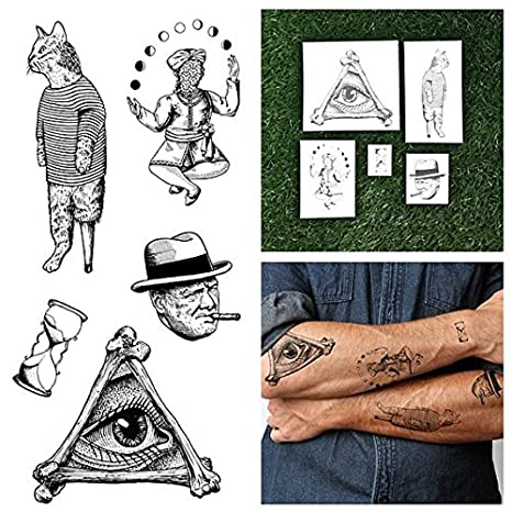 Tatuajes Temporales Tattify - Dibujo lineal - Mezcolanza (juego de ...