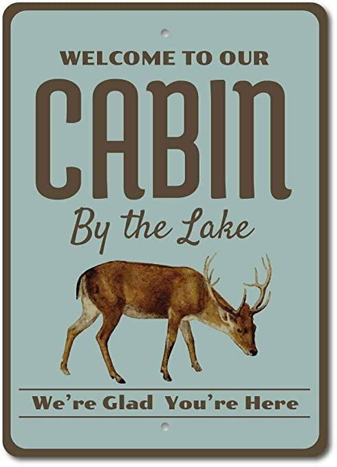 Welcome to Our Cabin Sign RETRO METAL PLAQUE
