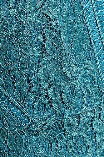 Figurbetontes next aus Aqua Kleid Damen Spitze H55Rq6Sg