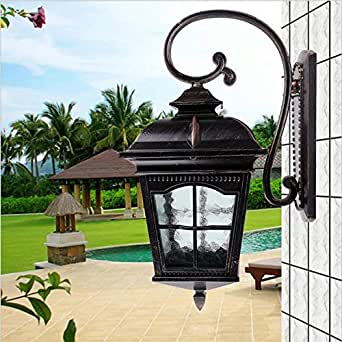 High End Cottage Europe Waterproof H 54cm Iron Glass E27