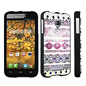DuroCase ? Alcatel One Touch Fierce 7024W Hard Case Black - (Space Aztec)