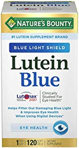 Nature's Bounty Lutein Blue Softgels for Eye Health, 120 ct.