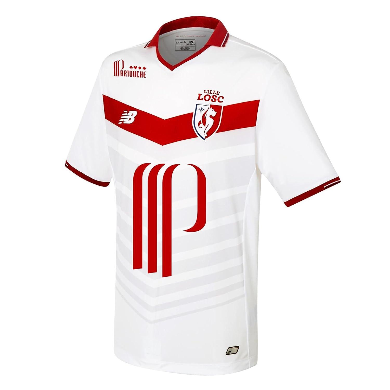 timeless design cde31 98871 New Balance Lille OSC FC 16/17 Home S/S Football Shirt ...